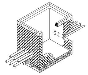 caja de inspección sencilla para canalización de M.T Y B.T CS275