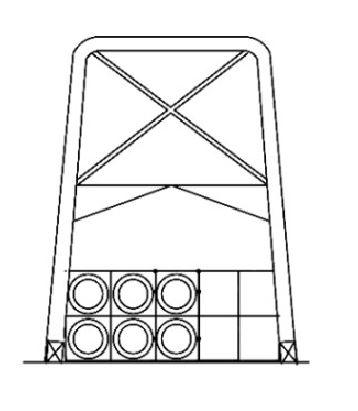 Esoinsas-ductos galvanizados sobre estructuras CS 218-1