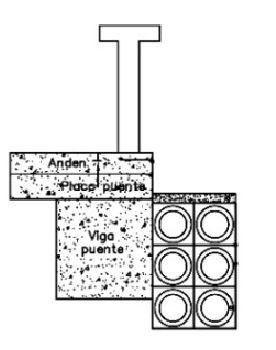 Esoinsas- instalación de ductos de hierro galvanizado suspendidos en puestes CS218