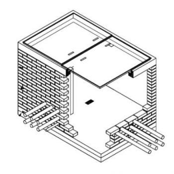 Esoinsas- caja para alojar barraje preformado de MT CS281 (*) solo para subestaciones